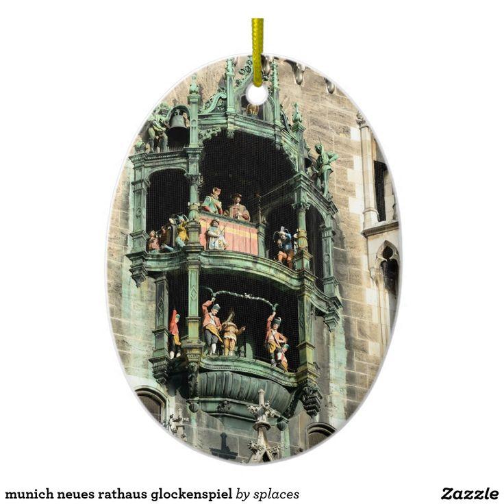 munich neues rathaus glockenspiel ceramic ornament