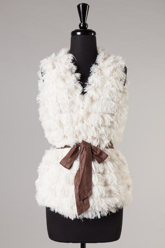 Fur vest www.southernragsclothing.com facebook: Southern Rags Clothing