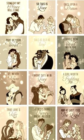 Repinning because my husband is MY PRINCE CHARMING!!  I look at these and bubble up inside at how blessed I am.  Also, I'm doing Mulan this week, and it's so so adorable! :)