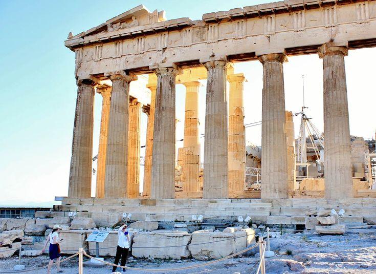 Le Parthénon, sur l'Acropole d'Athènes, en Grèce #athenes #grece