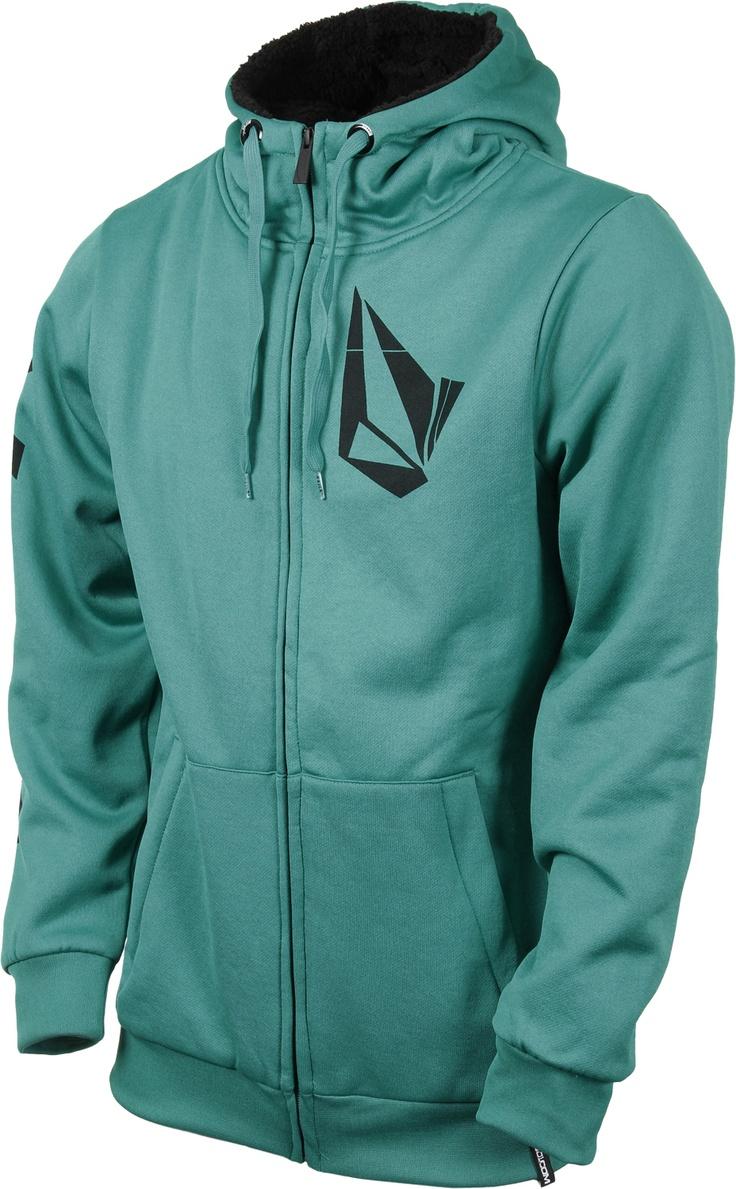Volcom Logo Sherpa Lined Hydro Zip Hoodie - Men's Clothing > Hoodies & Sweaters > Hoodies > Zip Hoodies