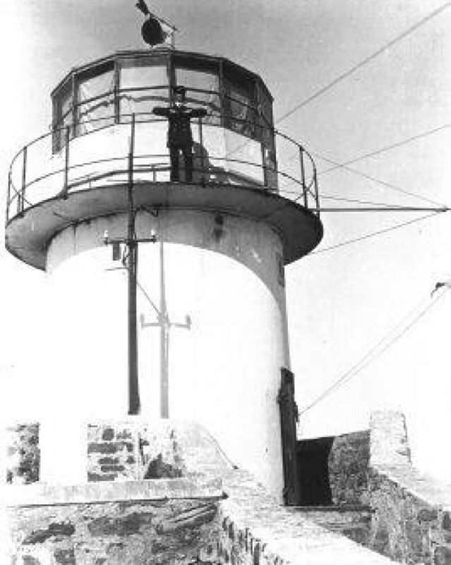 #TBT The picture was taken in the 1914's of the Old Lighthouse at Cape Point at the time of the opening of the new lighthouse; further down the point of Cape Point. The lighthouse keeper seen here is either J.T. Bennett or J. Piper - Bennett's term of office ended in 1914 and Piper's began. Pic:Simon's Town Museum #Cape Point #Lighthouse #History