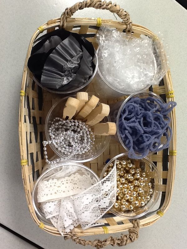 The Power of Art - Journey Into Early Childhood - baskets with loose parts for process art