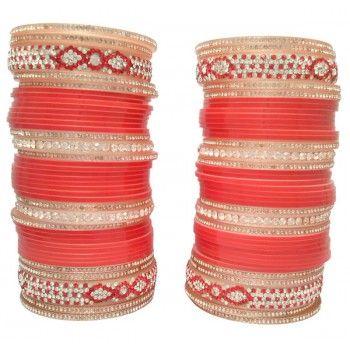 Glorious Bridal Chura Red-L21