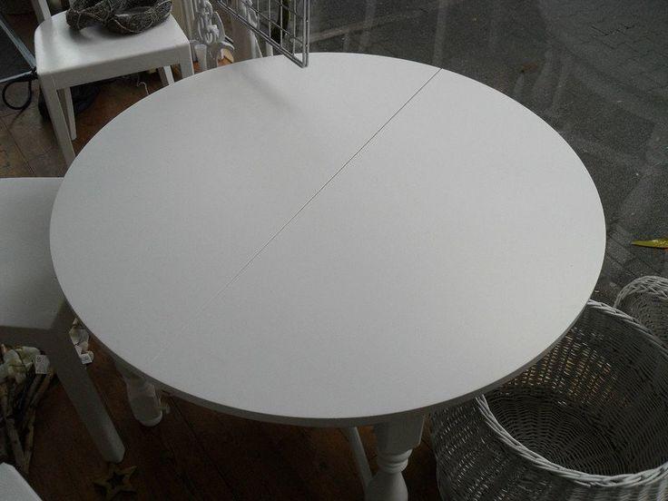 Couchtische - Tisch Couchtisch Ausziehbar Rund Shabby - ein Designerstück von Die-Ideenschmiede bei DaWanda