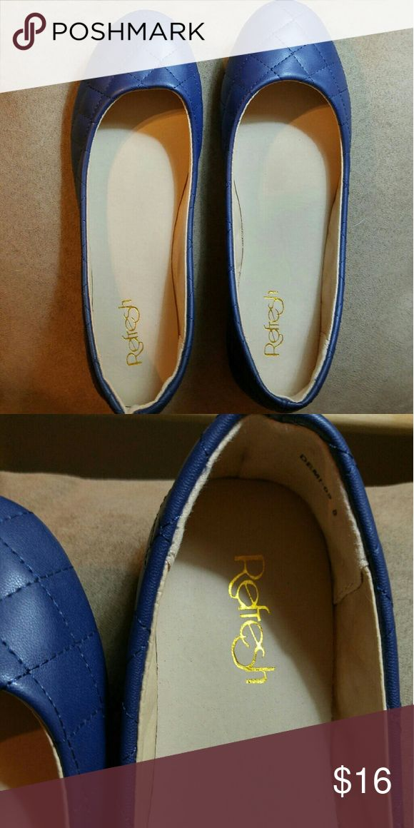 Zulily Navy blue ballet shoes. NWT. Size 8M. New navy ballet shoes with a quilted look Refresh from Zulily Shoes Flats & Loafers