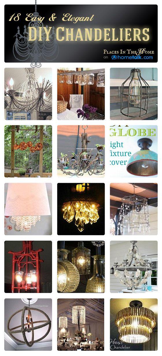 diy chandelier ideas   Easy & Elegant DIY Chandelier Ideas- Places In The Home