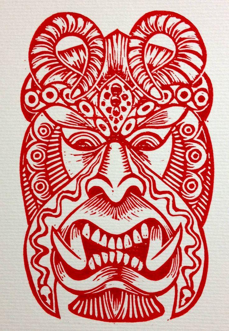 Pueblo Boruca - Diablito Mask