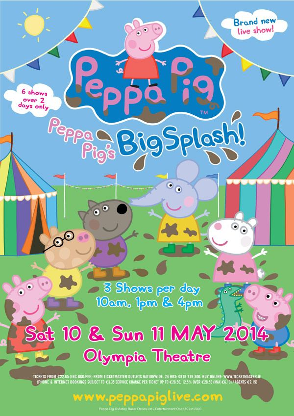 Win a family pass to Peppa Pig's Big Splash at The Olympia Theatre. Log in to be in the draw to win!