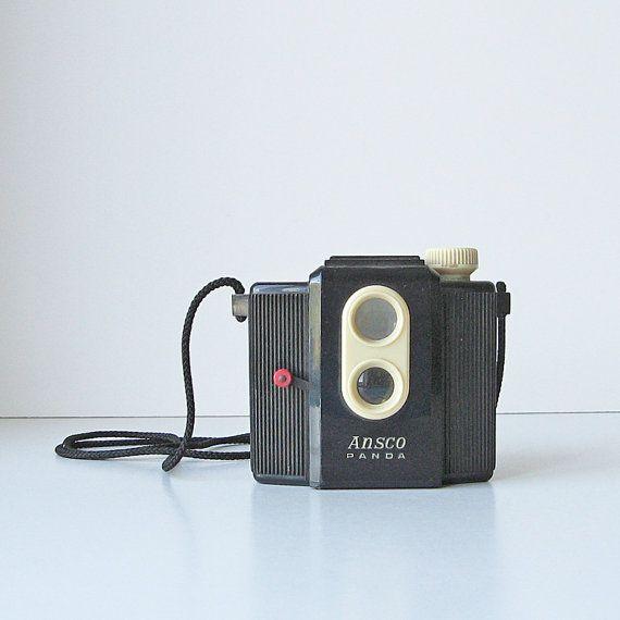 Ansco Panda box camera vintage film camera retro box camera from ruralrootsvintage on etsy.ca