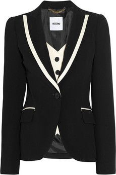 MoschinoStretchgabardin Tuxedos, Tuxedos Jackets, Stretch Gabardine Tuxedos, Fashion, Style, Moschinotuxedo Jackets, Moschinostretchgabardin, Black White, Moschino Stretch Gabardine