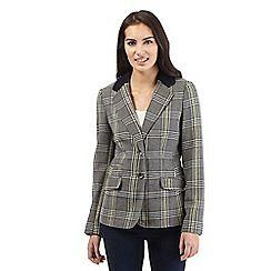 Maine New England - Grey large checked blazer