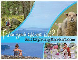 We just ordered these postcards! Thanks to our awesome designer Kristine Mayes.  Plan your Salt Spring Island Escape at http://www.saltspringmarket.com Postcards available at the upcoming Salt Spring in the City, in Vancouver March 27-29th 2015