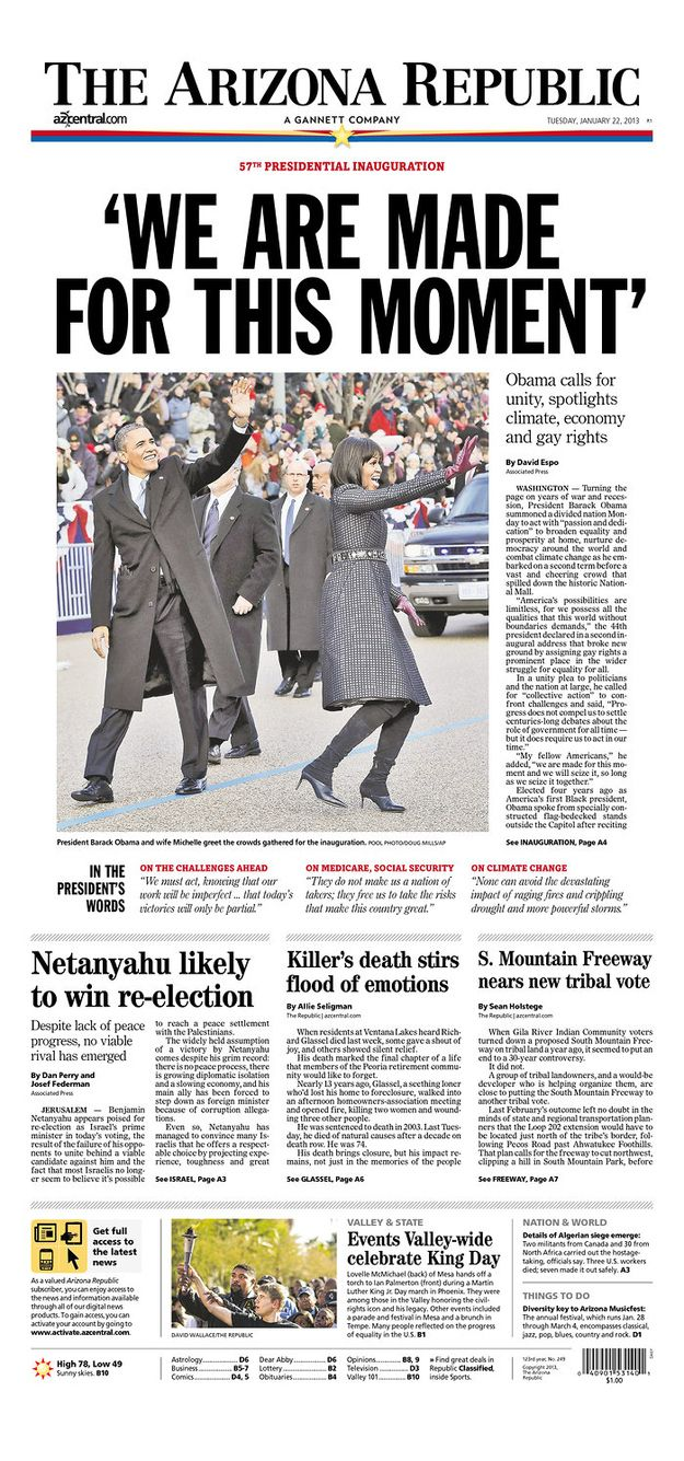 Newspaper front pages on Pinterest   Front pages of ...