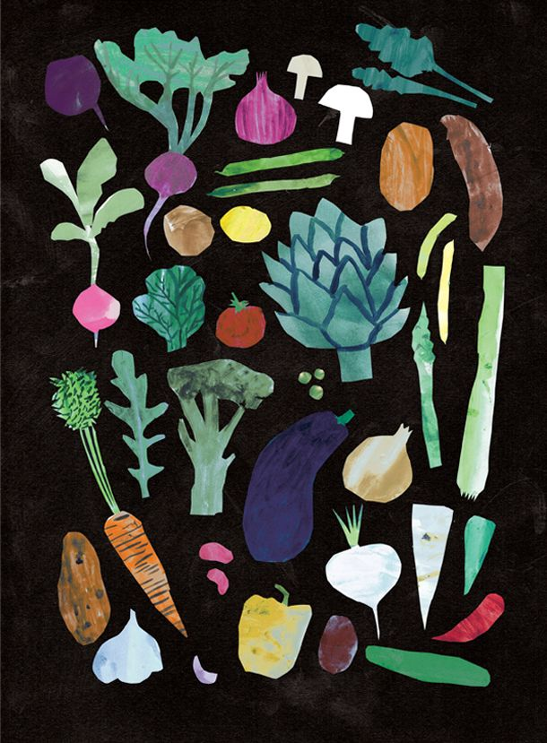 Vegetables Print - Louise Lockhart | Illustration | Design | The Printed Peanut