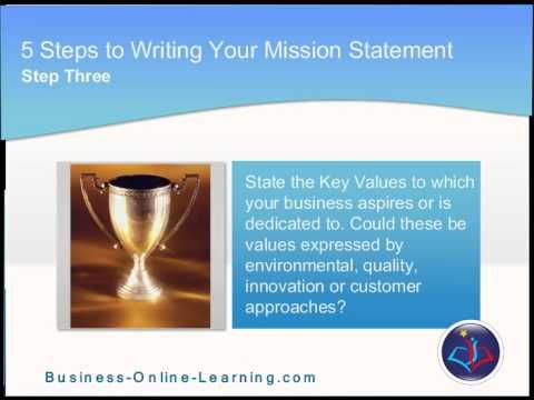 "This video gives a 5 tips and 5 techniques on how to write your mission statement. Check it out, it is really interesting - especially the ""Grandma Check""!"