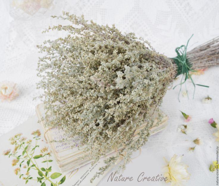 Купить Полынь сухоцвет букетик - сухоцветы, засушенные цветы, полевые цветы и травы, травы