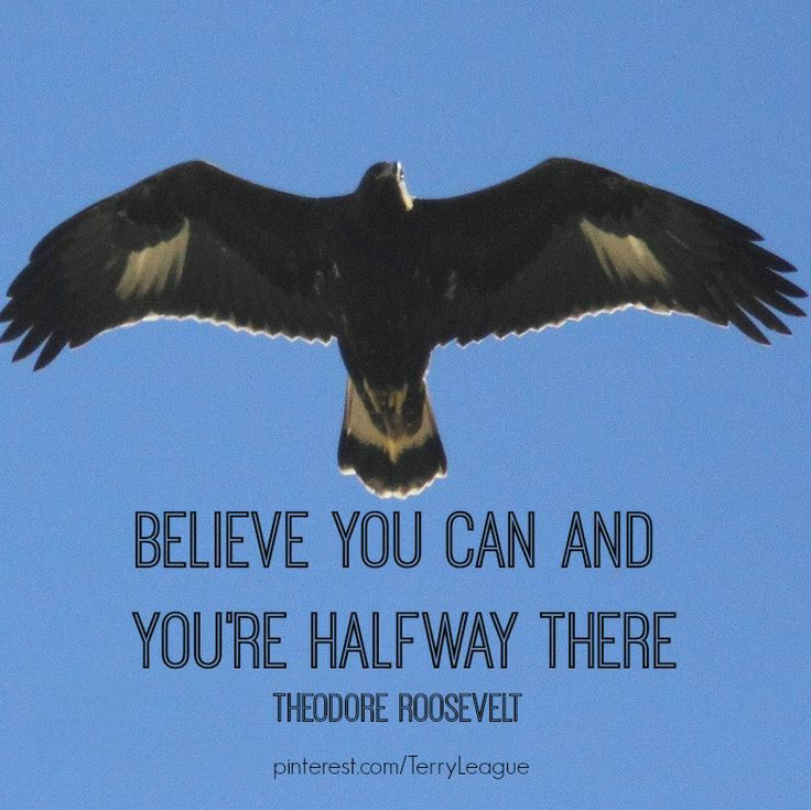 """Believe you can and you're halfway there."" Theodore Roosevelt"
