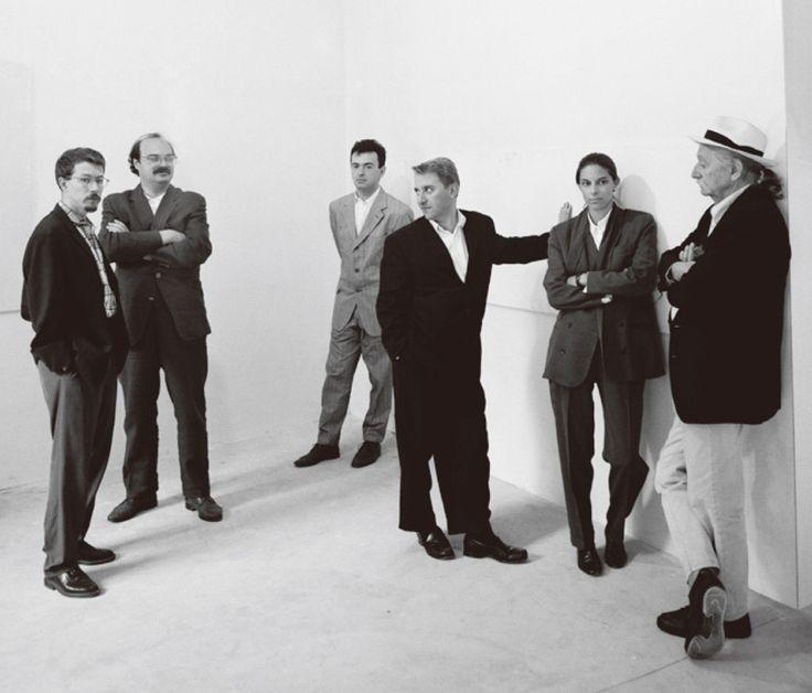 phaidon's monograph of james irvine details the life and work of the late designer. sottsass associati, 1993 from L-R: mike ryan, marco zanini, mario milizia, james irvine, johanna grawunder, ettore sottsass