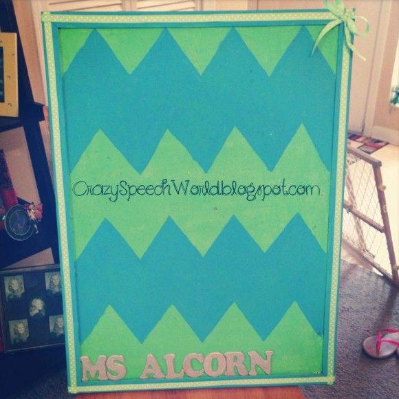 Create a Chevron Bulletin Board - Speech Room Style