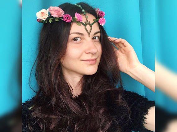 Woodland elf tiara elfen jewelry fairy crown elvish diadem