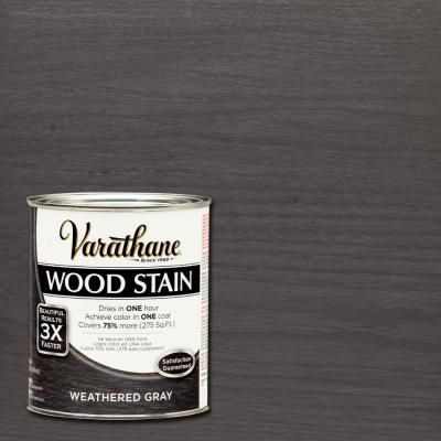 I want this color!  Varathane 1 qt. 3X Weathered Gray Premium Wood Stain (2-Pack)-267124 - The Home Depot