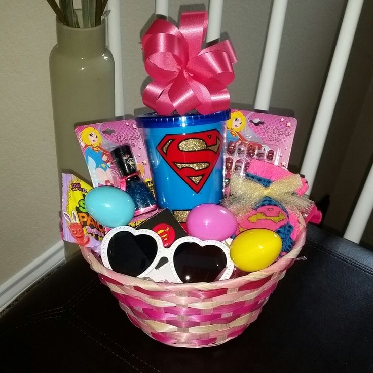 The 25 best filled easter baskets ideas on pinterest easter egg supergirl pre filled easter basket gift dccomics supergirl girl girls easter negle Image collections