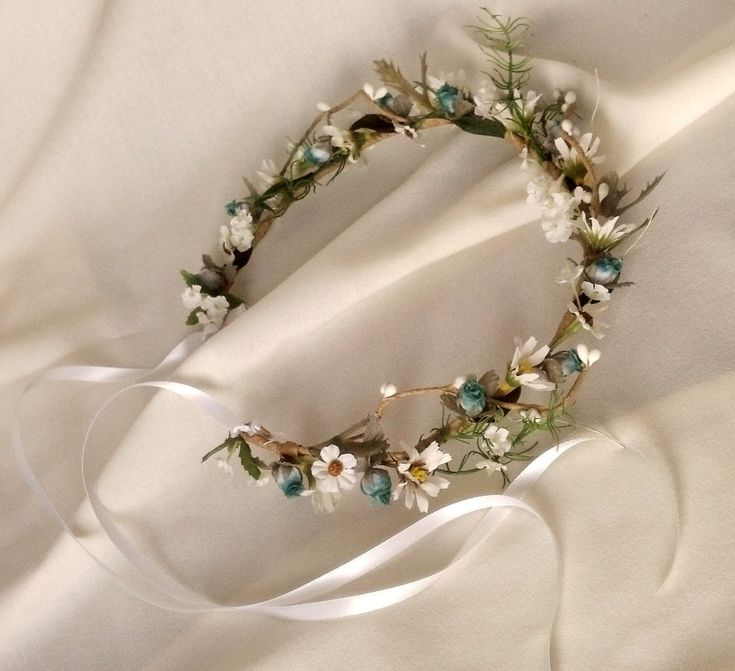 Vintage bride head crowns | Bridal hair accessories Wedding fairy Flower Crown by AmoreBride