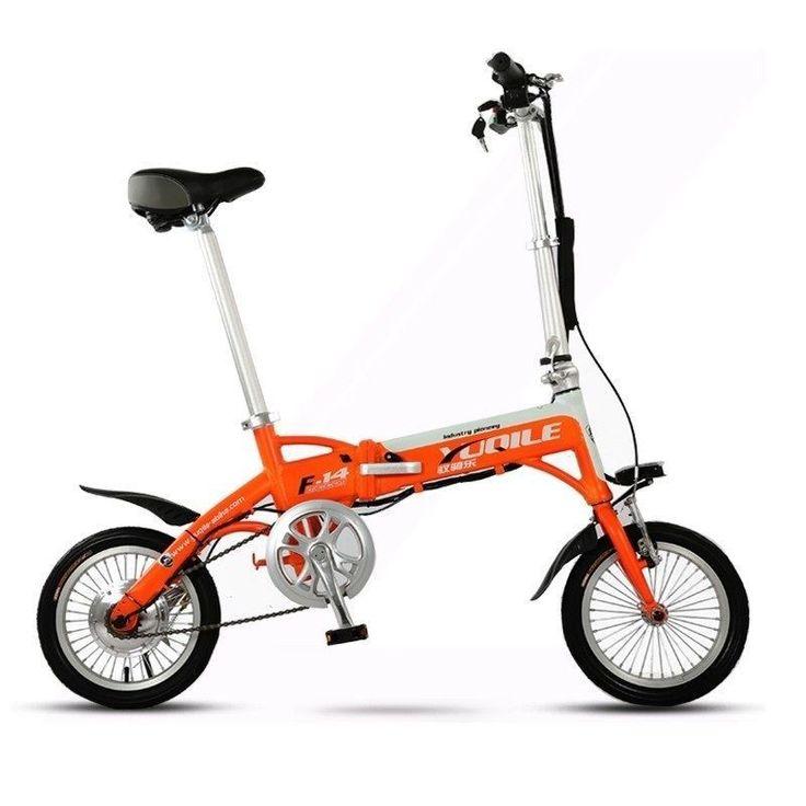 JT Autoparts 14 inch ebike orange Latest Unique Mini 14 inch Folding Foldable Aluminium Electric Bike Ebike With Lithium-ion Battery 36V 8Ah http://www.jtautoparts.com/lat