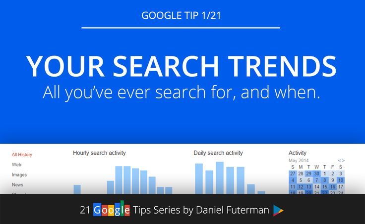 Google Tip 1/21: Your Personal Google Search Trends