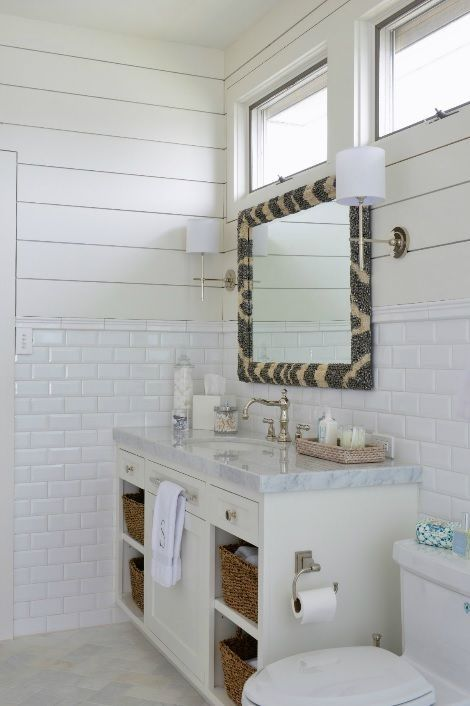 Munger Interiors Bathrooms Zebra Mirror Tongue And