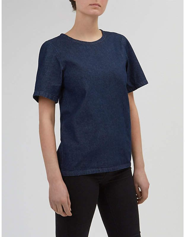 Denim smock top from Community Clothing, ethical manufacturing cooperative