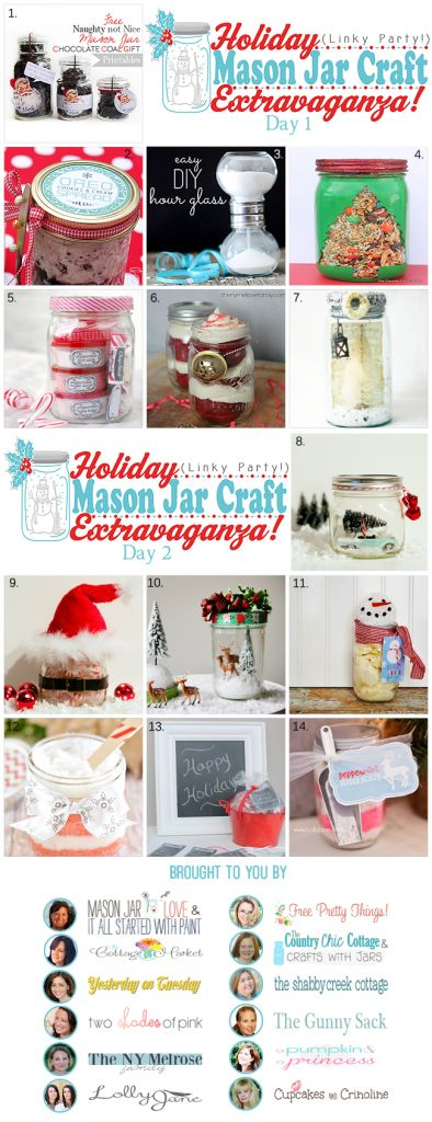 Holiday Mason Jar Craft Extravaganza Party