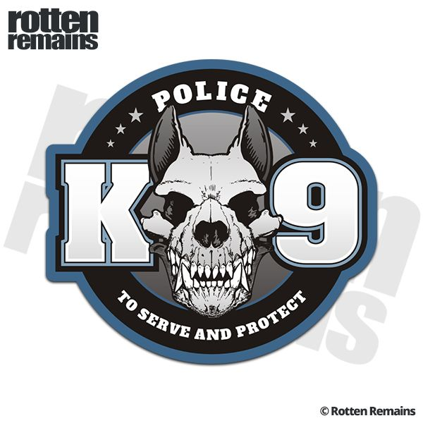 Police K9 Unit To Serve and Protect K-9 Officer Sticker Decal