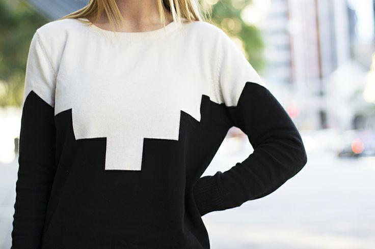 Geometric knit jumper.
