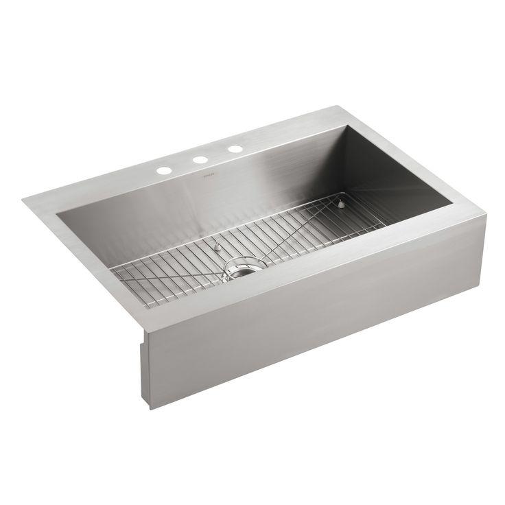 "Vault 35.75"" x 24.31"" Top-Mount Single-Bowl Kitchen Sink ..."