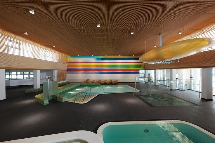 VitaSol Therme, Bad Salzuflen,  Germany by 4a Architekten - done withe swimming pool ceramics by AGROB BUCHTAL
