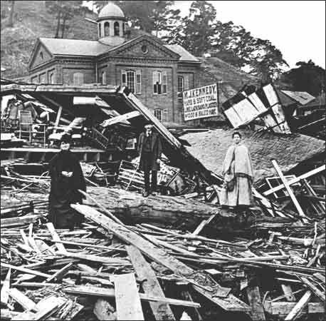 Aftermath of the Johnstown Flood.