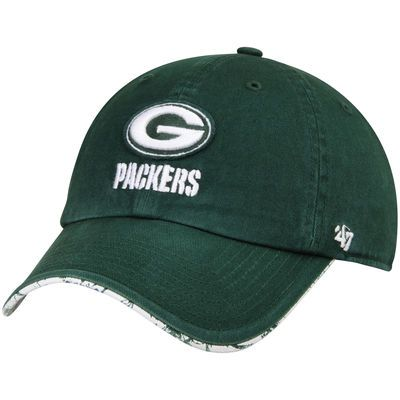 Women's Green Bay Packers '47 Brand Green Olivia Clean Up Adjustable Hat