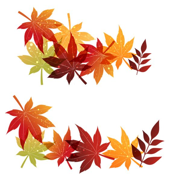 Fall Leaves Decoration PNG Clipart Image