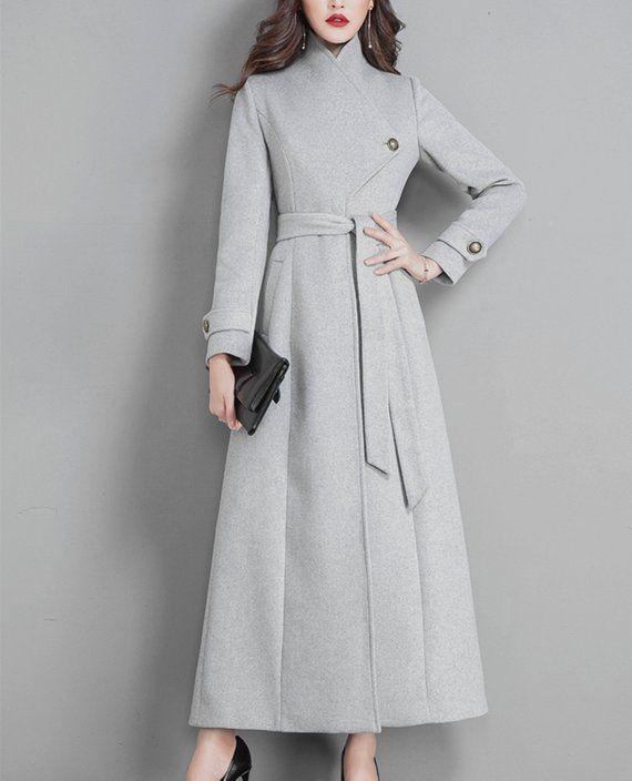 f543a869c Black coat,wool coat,women long full length wool jacket warm cozy ...