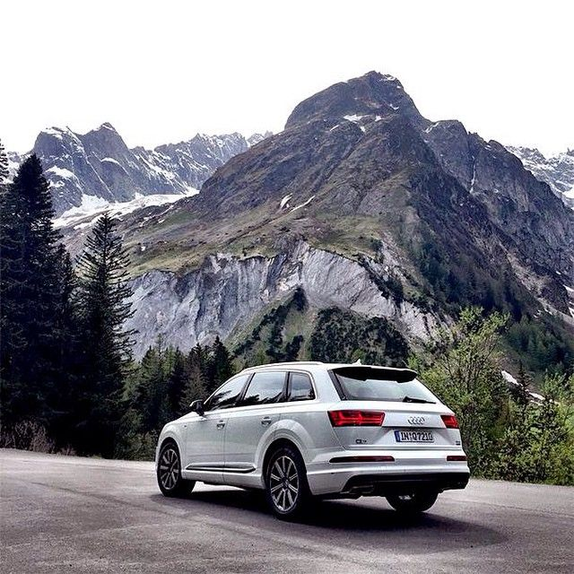 The Audiq7 And The Swiss Alps Go Together Like Apple Carplay And Android Auto Which Are Now Available Under The Same Pa Audi Apple Car Play Luxury Car Brands