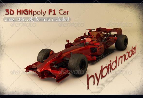 High Poly Hybrid F1 Car