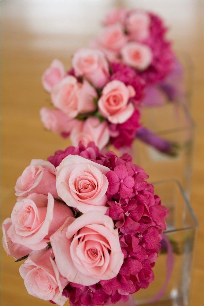 Bridesmaids bouquet in pink Rose & Hydrangea by Tirtha Bridal Uluwatu Bali