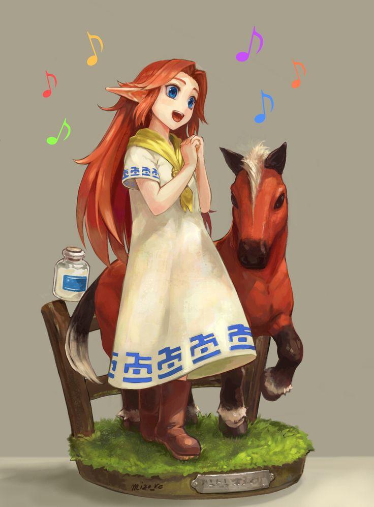 Malon & Epona   #Zelda #oot