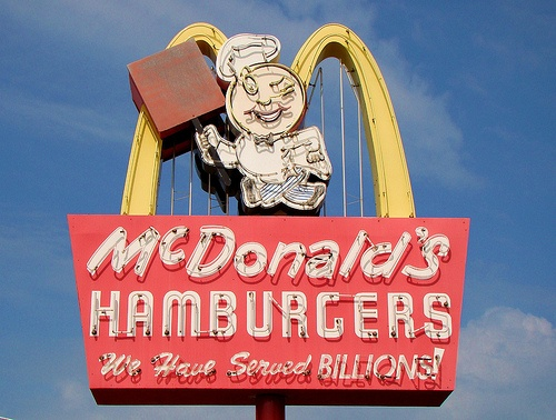 McDonalds only real fast food place in our town when growing up...was always a special thing to go there in the 70's!