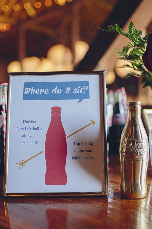 Kyle + Sam Wedding - Brooke Courtney Photography / red, white + blue wedding inspiration / seating chart / diy wedding / americana wedding / gold / coca cola bottle / wedding details /