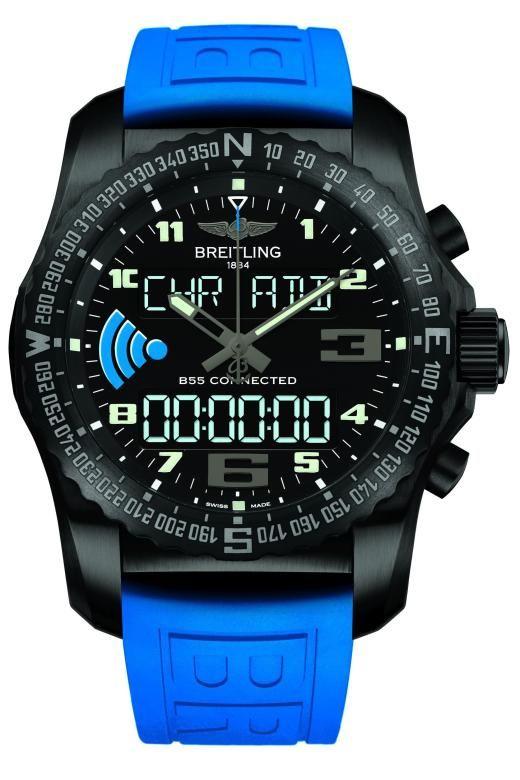 """Als Hersteller von Instrumentenuhren für Piloten, seiner berühmten Funkuhren Emergency I und II und Produzent extrem genauer Superquarzwerke hat Breitling als eine letzten unabhängigen Manufakturen vielleicht die besten Voraussetzungen für eine eigene Smartwatch. Zwar handelt es sich bei der nun vorgestellten Uhr """"B55 Connected"""" noch um einen Prototypen, aber es dürfte sich nur um eine Frage der Zeit handeln, wann diese Uhr in Serie geht. Aufschrei in der Mechanik-Fankurve? Nein, im…"""
