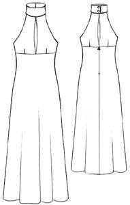 modèle patron gratuit pour faire une robe de soirée