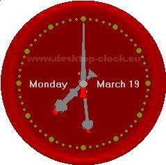 Big Ben red clock
